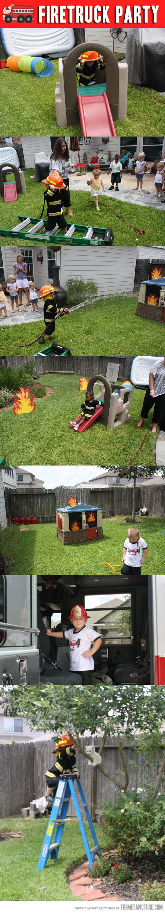 Fireman birthday party…   The last picture is ADORABLE!