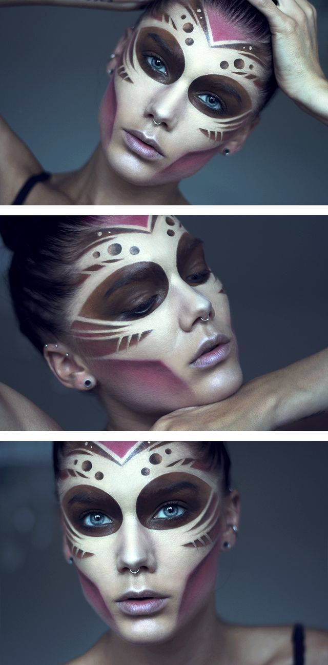 Tribal makeup @tiinatolonen