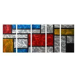 Metal Wall Art is super cool, trendy and stylish especially for rooms such as offices and kitchens.  In fact, there is a wide variety of metal wall art from crazy abstract metal wall art to beautiful floral metal wall art.  #metalwallart #homewallartdecor #homedecor   Winpeak Art Colorful Aluminum Large Metal Wall Art Abstract Modern Contemporary Decor Painting Pictures Indoor and Outdoor Decorative Artwork for Home Decoration 84
