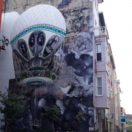 Kadıköy'de Boş Duvarlar Sanat Eserine Dönüştü!