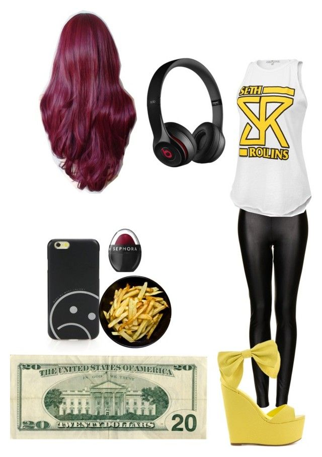 """""""WWE backstage with Seth Rollins"""" by pizzaisbaebaeislife ❤ liked on Polyvore"""