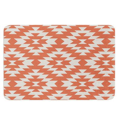 """East Urban Home Navajo by Amanda Lane Bath Mat Color: Toasted Coral, Size: 17""""W x 24""""L"""