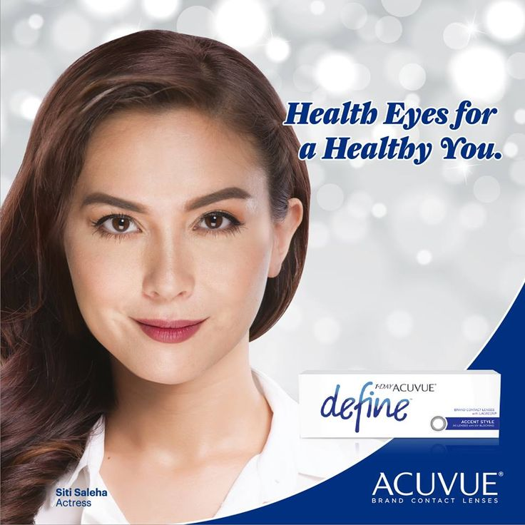 1-Day ACUVUE® DEFINE® Brand Contact Lenses with LACREON® Technology – a daily disposable contact lens with up to 20 hours cushion of moisture for long lasting comfort.