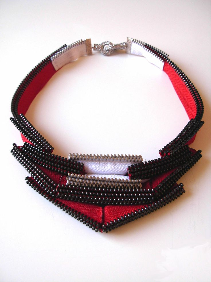 The Dame Zipper Necklace by ReborneJewelry.