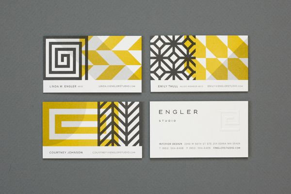 Classy Business Cards {Elemental graphic combination of overlapping patterns} // Eight Hour Day » Engler Studio Identity