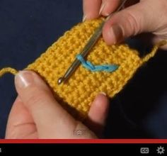 Learn how to draw on your crochet or knit pieces with Surface Crochet! Video tutorial on mooglyblog.com