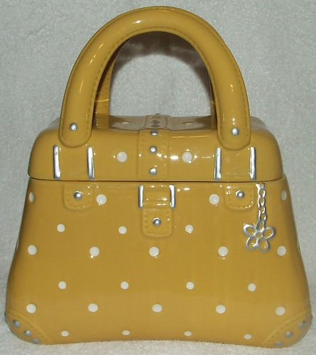 Cute Ceramic Yellow Polka Dot Purse Hand Bag Cookie Jar by Temp Tations   eBay