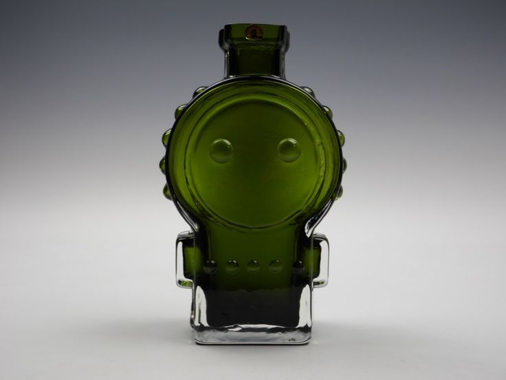 Riihimaki 'Ahkeraliisa (Busy Lizzy)' olive green glass vase by Helena Tynell by artofglass2012 on Etsy https://www.etsy.com/listing/208104297/riihimaki-ahkeraliisa-busy-lizzy-olive