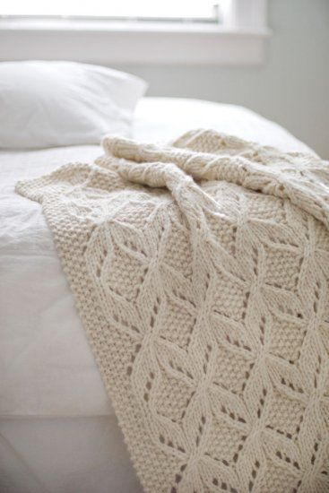 Blanket knit with super-bulky wool and 15s