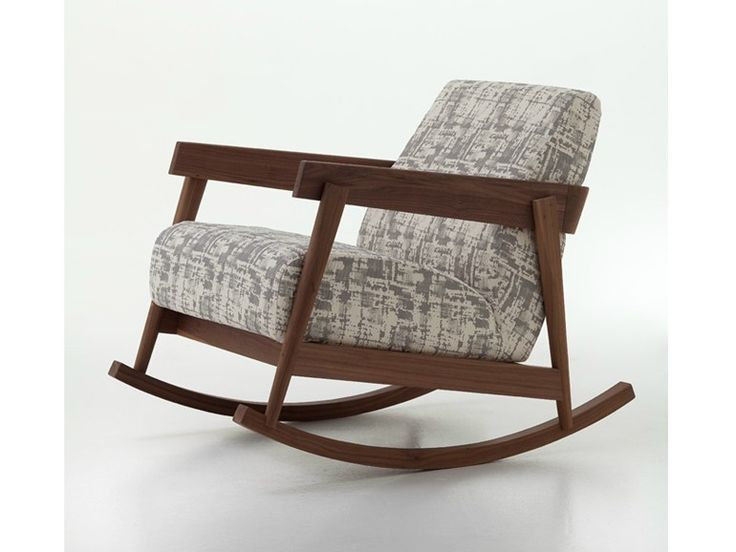 Rocking upholstered fabric armchair with armrests BRICK 307 by Gervasoni design Paola Navone