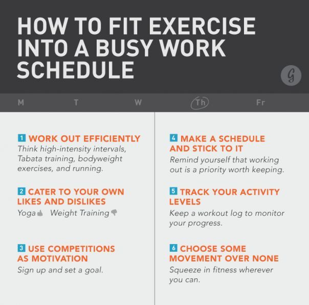 How to Fit Exercise into a Busy Work Schedule #health #fitness #workout