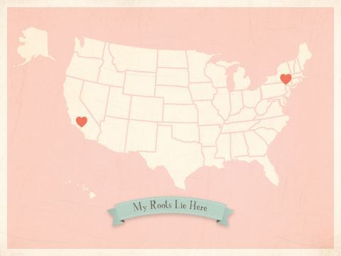Interiors :: Decor :: Art Work :: My Roots USA Map