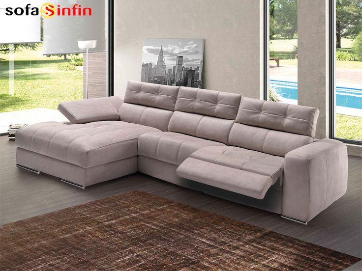Sofá Relax De 3 Y 2 Plazas Con Chaise Longue Modelo Elegant Fabricado Por  Divani