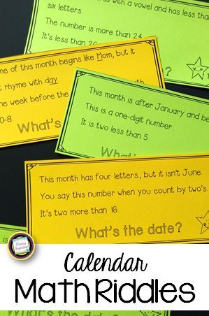Are you ready for something new at calendar time? Your first graders will love solving these 60 cross-curricular riddles, and they'll be building two sets of skills: months (name, sequence, word features like rhyme, number of letters, first /last letter, number of syllables, number of vowels) and math (addition and subtraction, doubles, near doubles, one more, one less, two more, two less, complements of ten, sequence of numbers, number patterns, and ordinal numbers). Try 3 free in the…