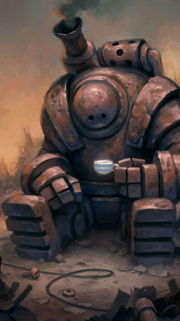 Robot 9 16 Ilustración De Robot Arte Robot Arte De Animación