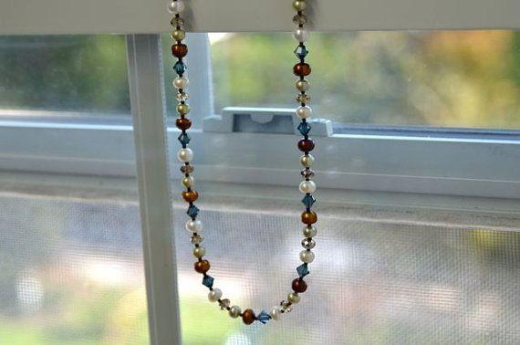 Collar de perlas de agua dulce con Marina por northatlanticart