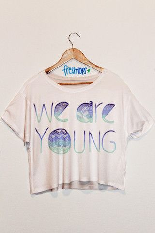We Are Young Blue Aztec - Fresh-tops.com