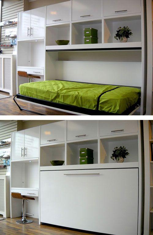Односпальная раскладная кровать с рабочим столом