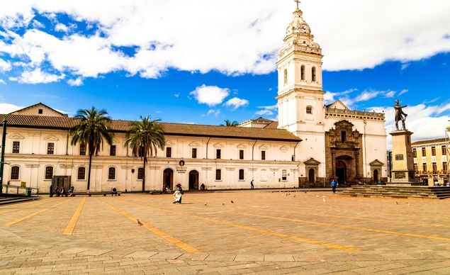 Beautiful Plaza de Santo Domingo in Quito is one of the central spots where you'll want to slow down and do some people-watching. (Courtesy Friendly Planet Travel)  Read more: http://www.budgettravel.com/slideshow/budget-travel-vacation-ideas-amazing-photos-of-ecuador,55892/#ixzz3o0nvpKjz