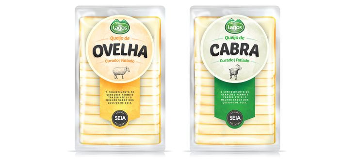 Gama de queijos fatiados Lagos #packaging #design #food #cheese #goat #sheep