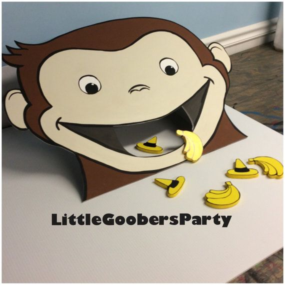 fun toss game toss the bananas corn hole game inspired by curious george - Curious George Halloween Games