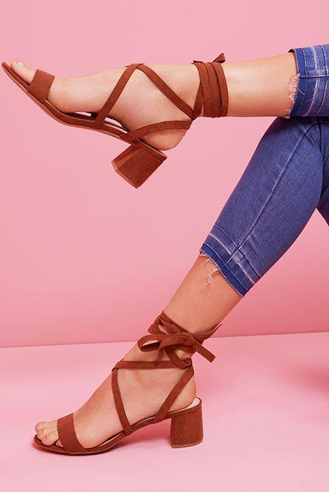 Primark mode femme chaussures sandales chaussures été talons talons hauts spartiates