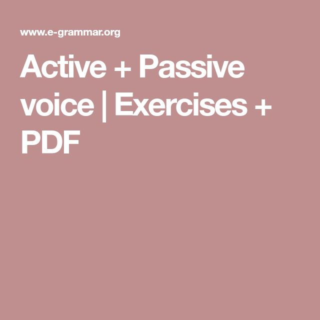 Active + Passive voice | Exercises + PDF