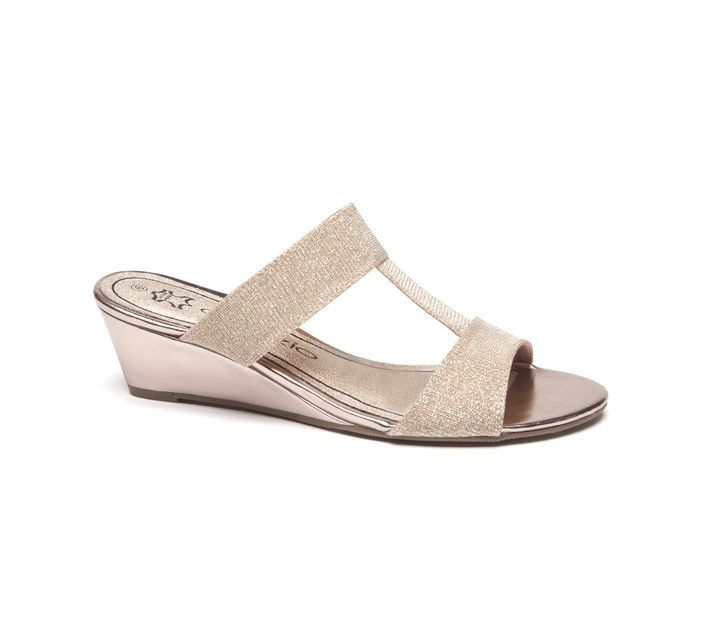 Slide on these wedge heels by Capezio and experience the comfort of a leather…