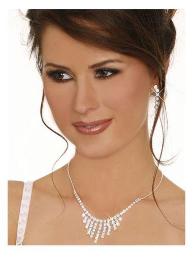 Sexy Rhinestone Fringe Necklace Set With Earrings | Necklace | Jewelery | StringsAndMe