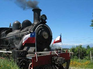 Wine train through Colchagua Valley.  Yes.