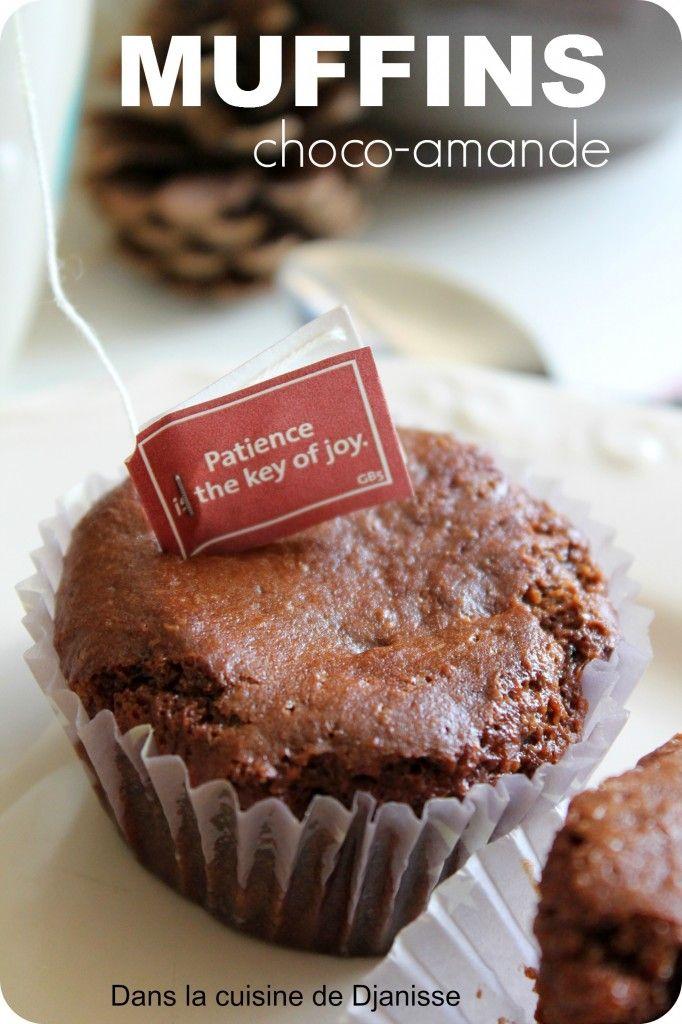 De délicieux muffins au chocolat, à la poudre d'amande et le tout, sans gluten et sans lactose !