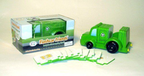 Brainy Baby Rudy The 123s Recycling Truck Wooden Flashcar by Brainy Baby. $11.99. From the Manufacturer                Rudy has vivid, colorful images on each of his flashcard inserts for learning numbers 1-20, counting and even some basic math learning numbers has never been so fun.                                    Product Description                Brainy Baby Flash Cards - Wooden Flashcar Friends - Rudy the 123s Recycling Truck - Item: BB_53004