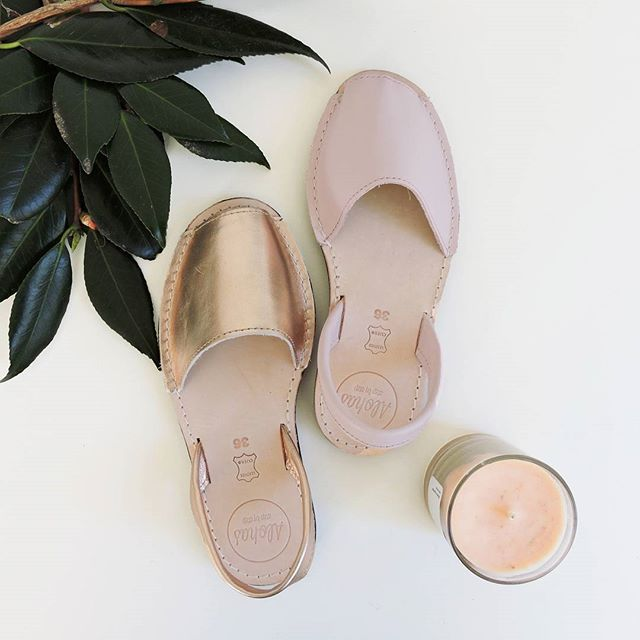 Alohas Summer Range | High Society Rose Gold Leather & Strawberry Sorbet Leather | Shop at http://www.alohassandals.com.au