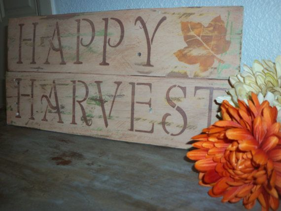 Happy Harvest Wood Sign Fall Decor Sign Fall by BehindTheWoodshed, $16 ...
