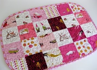 Patchwork Placemat Tutorial || Fashioned by Meg