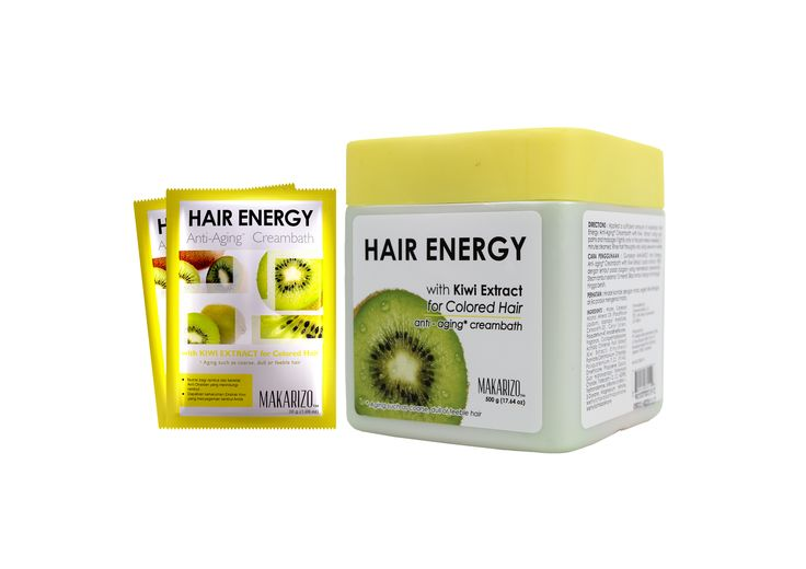 Hair Energy Kiwi diperuntukkan untuk: •Rambut yang mengalami proses pewarnaan/pelurusan, fungsi kiwi adalah menutrisi rambut agar tetap sehat, tidak kering, kusam, atau gejala penuaan lainnya. •Menjaga keseimbangan dan kelembaban rambut berwarna agar rambut lembut berkilau. •Memberi asupan gizi dan bersifat antioksidan yang melindungi rambut.
