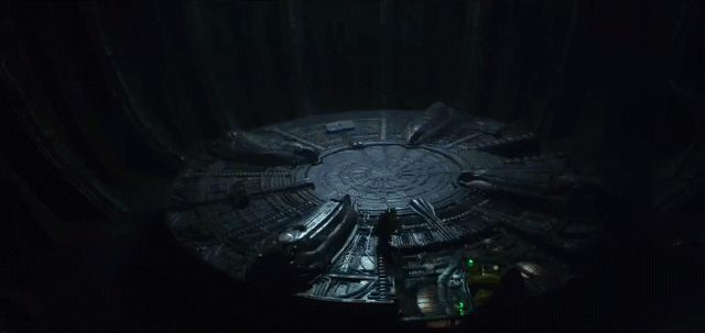 Prometheus film animation of alien cyborg in spaceshipHolographic galaxy map in the upcoming Prometheus movieComputer Hologram in Prometheus movie holographic map of the alien spaceshiphologra...