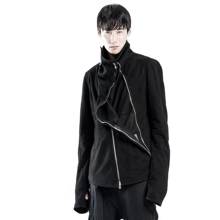 F U G A C I O U S___ { Suede lamb leather asymm jacket }