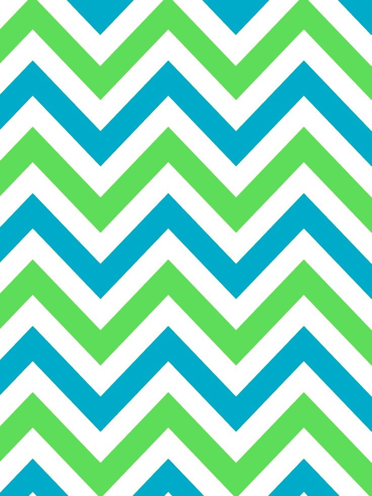 Blue And Green Chevron Wallpaper