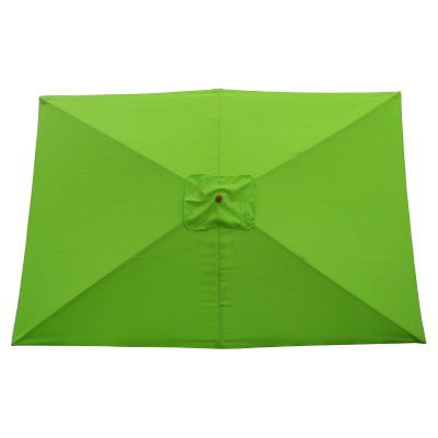 International Concepts Rectangle Market Umbrella Lime Green - 54316, Durable
