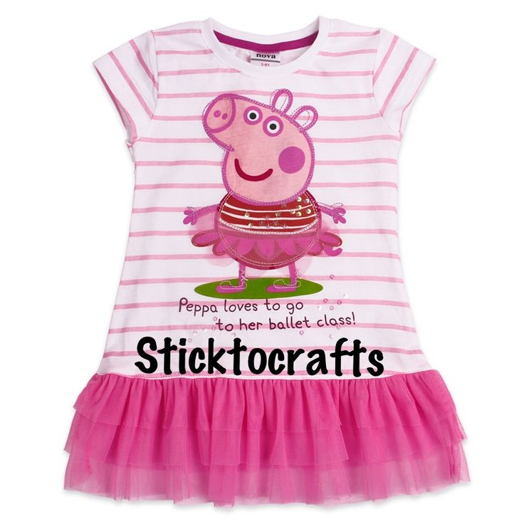 Peppa Pig Tunic - Sizes available Please visit my page for sizing & pricing https://www.facebook.com/SticktocraftsHairAccessories?hc_location=timeline