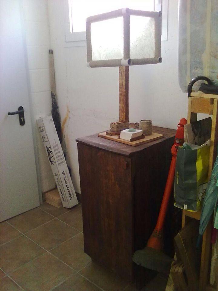 Lampada e mobile per studio (pallet)