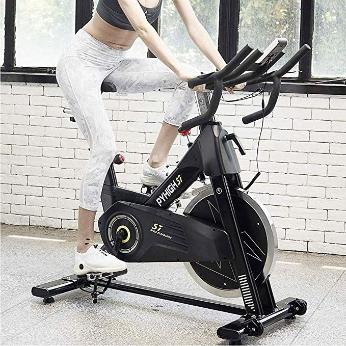 Pyhigh Indoor Cycling Bike 48lbs Flywheel Belt Drive Stationary Bicycle Exercise Bikes With Lcd Moni Biking Workout Bicycle Workout Recumbent Bike Workout