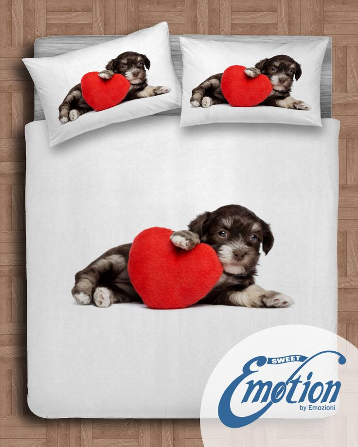 Digital Dream // Variante #dog #lenzuola #coppiafedere #copripiumino #trapunta www.sweet-emotion.it