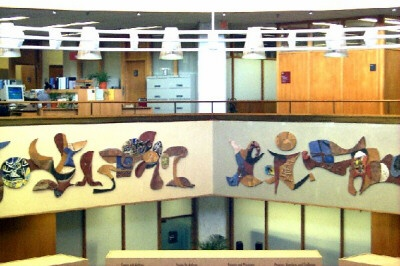 Frans Wildenhain ceramic mural at the U.S. National Library of Medicine, Bethesda, MD.