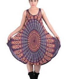 Buy Rayon Mandala Brown Color Dress other-apparel online