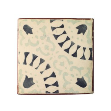 NEW Paris Francoise tile, a beautiful handmade and decorated, glazed terracotta tile.