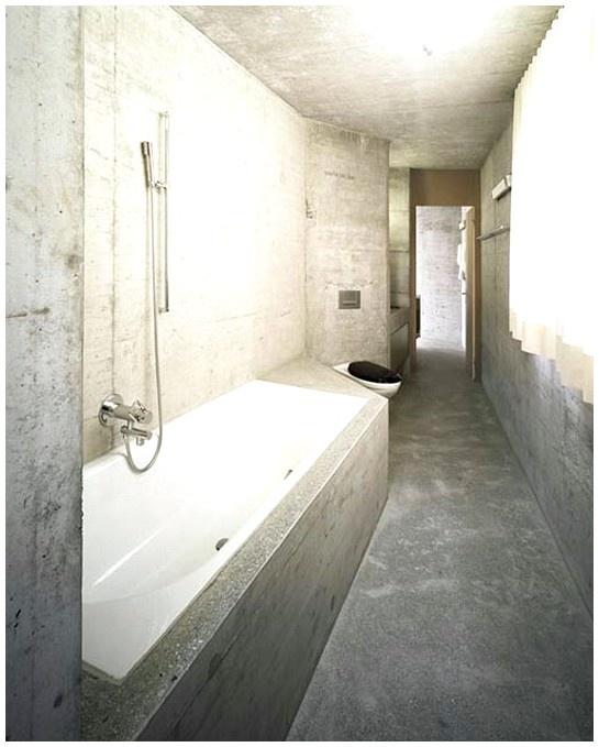Concrete Bathroom Floor: -Concrete Bathroom