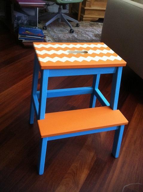 Painted Bekvam Ikea stool | Flickr - Photo Sharing!