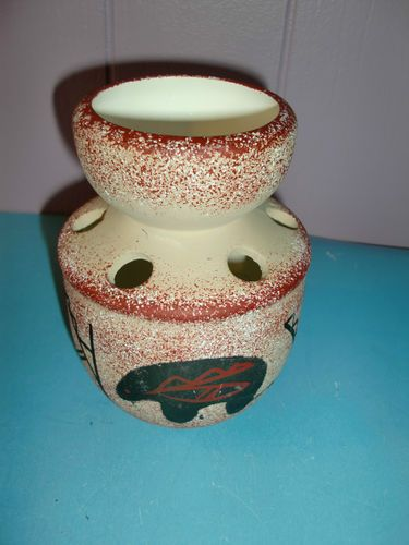 Southwestern Bear Totem Hand Painted Toothbrush Holder Native American Western | eBay